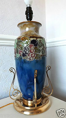 Large 40cm. Royal Doulton Art Deco Tube-lined  LAMP BASE  Winnie Bowstead 1920's