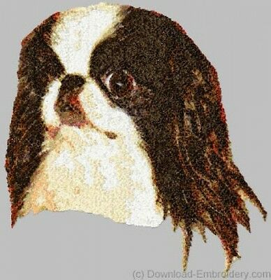 Embroidered Short-Sleeved T-Shirt - Japanese Chin DLE1560  Sizes S - XXL
