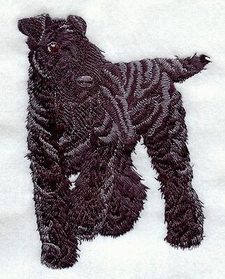 Embroidered Short-Sleeved T-Shirt - Kerry Blue Terrier I1207 Sizes S - XXL