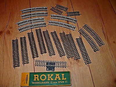 21 TT train ROKAL Germany track straight curve special 12mm gauge 1:120 unboxed
