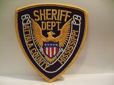 police patch  ATTALA COUNTY SHERIFF MISSISSIPPI