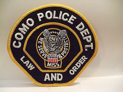 police patch  COMO POLICE MISSISSIPPI