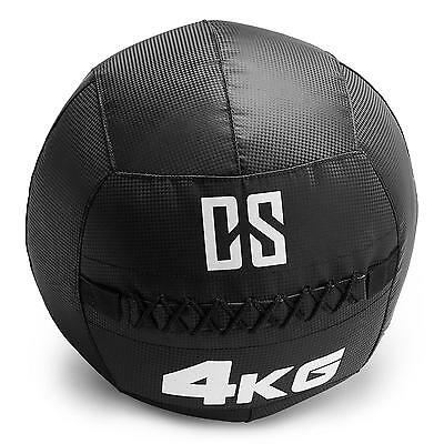 CAPITAL SPORTS Restricamo Medecine ball Wallball PVC Double couture 4kg noir