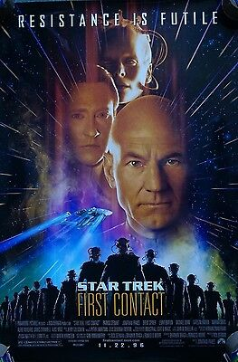 Star Trek: First Contact (1996) US ADV Dble sided Poster Original 27 x 40 inches
