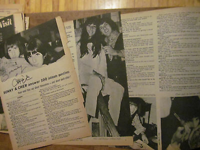 Sonny and Cher, Three Page Vintage Clipping