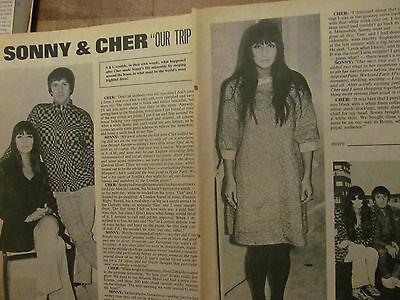 Sonny and Cher, Two Page Vintage Clipping