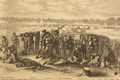 Battle of Shiloh Pittsburgh Landing KY Wounded Troops Amputee Civil War Leslie