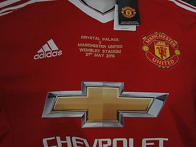 Man Utd  Home Shirt Fa Cup Winners Special Edition 2016 Bnwt Size Large