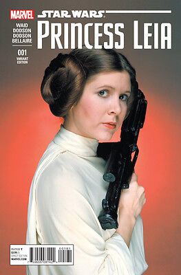 Princess Leia 1 Photo Variant cover Marvel Star Wars Carrie Fisher 1st