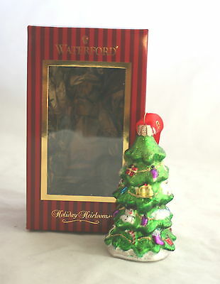 Waterford Glass Ornament Holiday Heirlooms Xmas Tree MSRP $35 NIB