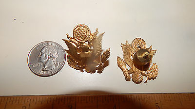 1 Vintage Goldplated  BRASS   U.S .Military Hat Pin ARMY