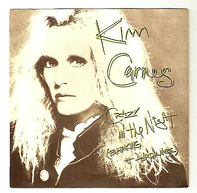 """Kim Carnes - Crazy in the night (Barking at Airplanes)  7"""" vinyl 1985 A1/B1"""