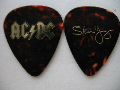 Ac/dc Stevie Young Rock Or Bust 2016 Tour Signature Real Tour Guitar Pick