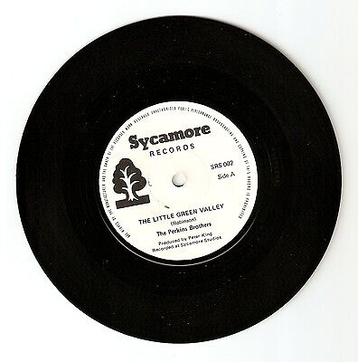 """The Perkins Brothers  - The little green valley Bw Evening 7"""" Vinyl Carl ? A1/B1"""