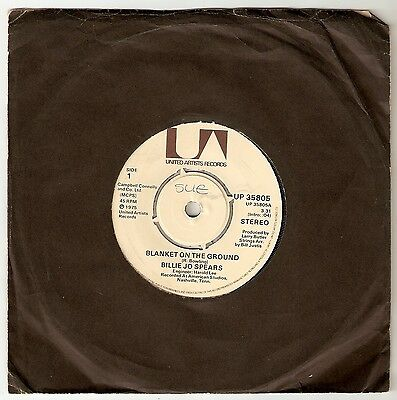 """Billy Jo Spears - Blanket on the Ground Bw Come on home  7"""" vinyl 1975 A1/B1"""