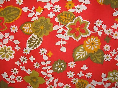 "60s 70s vintage dress fabric 3 yards - 36"" wide"