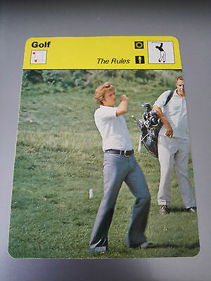 GOLF - 'THE RULES' - Sportscaster Photo Fact Card