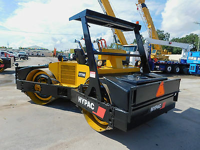"""2006 Hypac C778-B  """"10 Ton"""" Vibratory Compactor Tandem 78"""" Smooth Drum Roller"""
