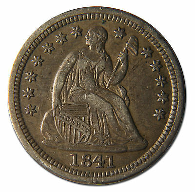1841 Silver Seated Half Dime 5¢ Coin Lot# MZ 3741