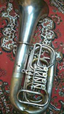 Vintage Germany Brass Pipe Tuba