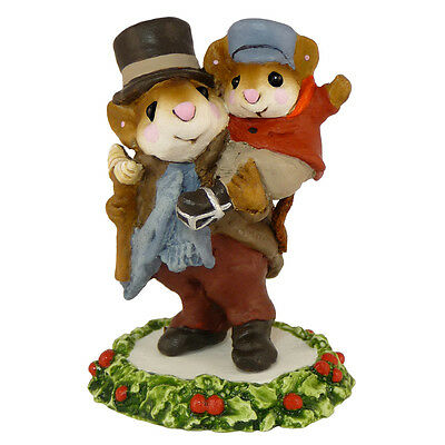 BOB CRATCHIT & TINY TIM by Wee Forest Folk, WFF# CC-2, A Christmas Carol Mouse