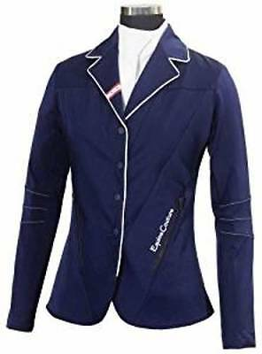 Equine Couture Stars & Stripes Ladies Show Coat (Navy, Large)