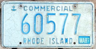 Rhode Island 1997 COMMERCIAL TRUCK License Plate 60577!!