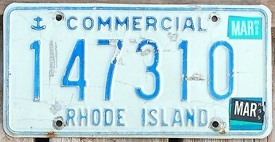 Rhode Island 1989 - 1998 COMMERCIAL TRUCK License Plate 147310!!
