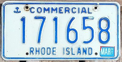 Rhode Island 1995 - 1997 COMMERCIAL TRUCK License Plate 171658!