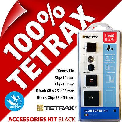 New Tetrax Accessories Kit Replacement Adhesive Clips Spare Accessory Pack Black