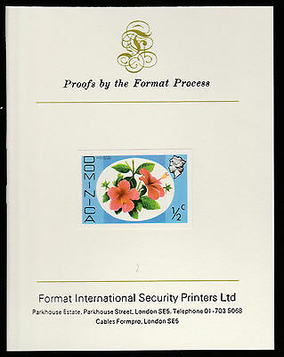 Dominica (409) 1975 Hibiscus 1/2c imperf on Format International PROOF  CARD