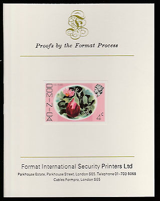 Dominica (412) 1975 Egg Plant 4c imperf  on Format International PROOF  CARD