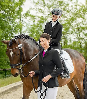 ELT Competition Riding Jacket (18, Blue/Silver Piping)