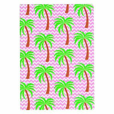 Sass and Belle A5 sized Notebook - Tropical Palm Tree design, Plain paper