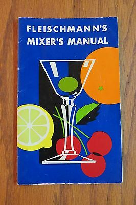 Vintage Fleischmann's Mixer's Manual Mixed Drinks Booklet