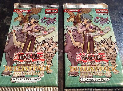 YuGiOh Duelist Pack Jesse Anderson DP07 1st English Ed Card Booster Packs x2