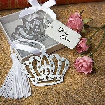 84 Crown Design Bookmark Themed Wedding Favors