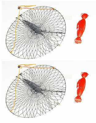 """2-Pack of KUFA Casting Crab trap with 100' line (size:Diameter 22"""") CR55x2"""