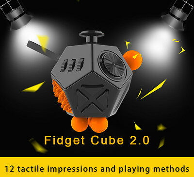 Creative Toys 12 Sides Anti-anxiety Dice and Depression  Stress Fidget Reliever