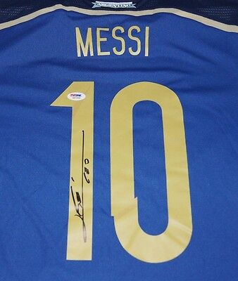 Lionel Messi Argentina Signed Autographed Soccer Jersey Psa/dna Loa 6A70808