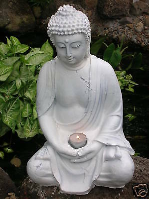 Buddah buddha candle holder statue cement garden ornament latex moulds molds