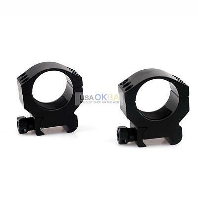 """Low Profile 30mm/25.4mm 1"""" Scope Mount Ring for 20mm Weaver Picatinny Rail"""