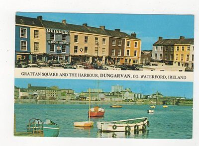 Grattan Square & Harbour Dungarvan Co Waterford 1960 Postcard Ireland 583a