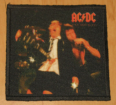 """AC/DC """"IF YOU WANT BLOOD YOU'VE GOT IT"""" silk screen PATCH"""