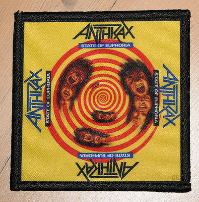 """ANTHRAX """"STATE OF EUPHORIA"""" silk screen PATCH"""