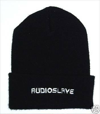 Audioslave! Embroidered White Logo Black Ski Hat Beanie New