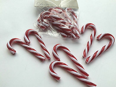 Christmas Decoration - 12 SMALL Red / White Striped Candy Cane tree ornaments