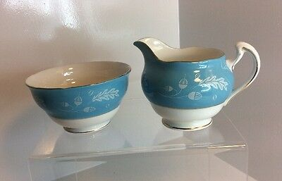 "Vintage Colclough "" Acorn"" Milk Jug And Sugar bowl"
