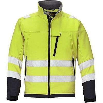Snickers 1213 Yellow High-Vis Soft Shell Jacket, Class 3