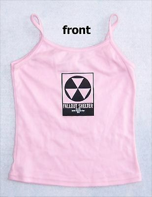 The Who Fallout Shelter Pink Girls Camisole Shirt Jr Small New